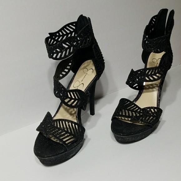 Jessica Simpson Shoes - Jessica Simpson Black Open toe shoes